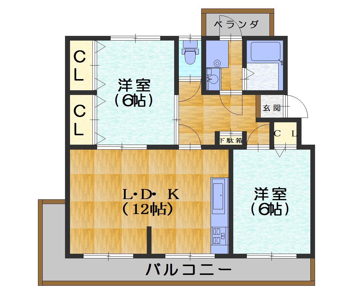 南円明寺ヶ丘団地3棟 価格800万円 イメージ