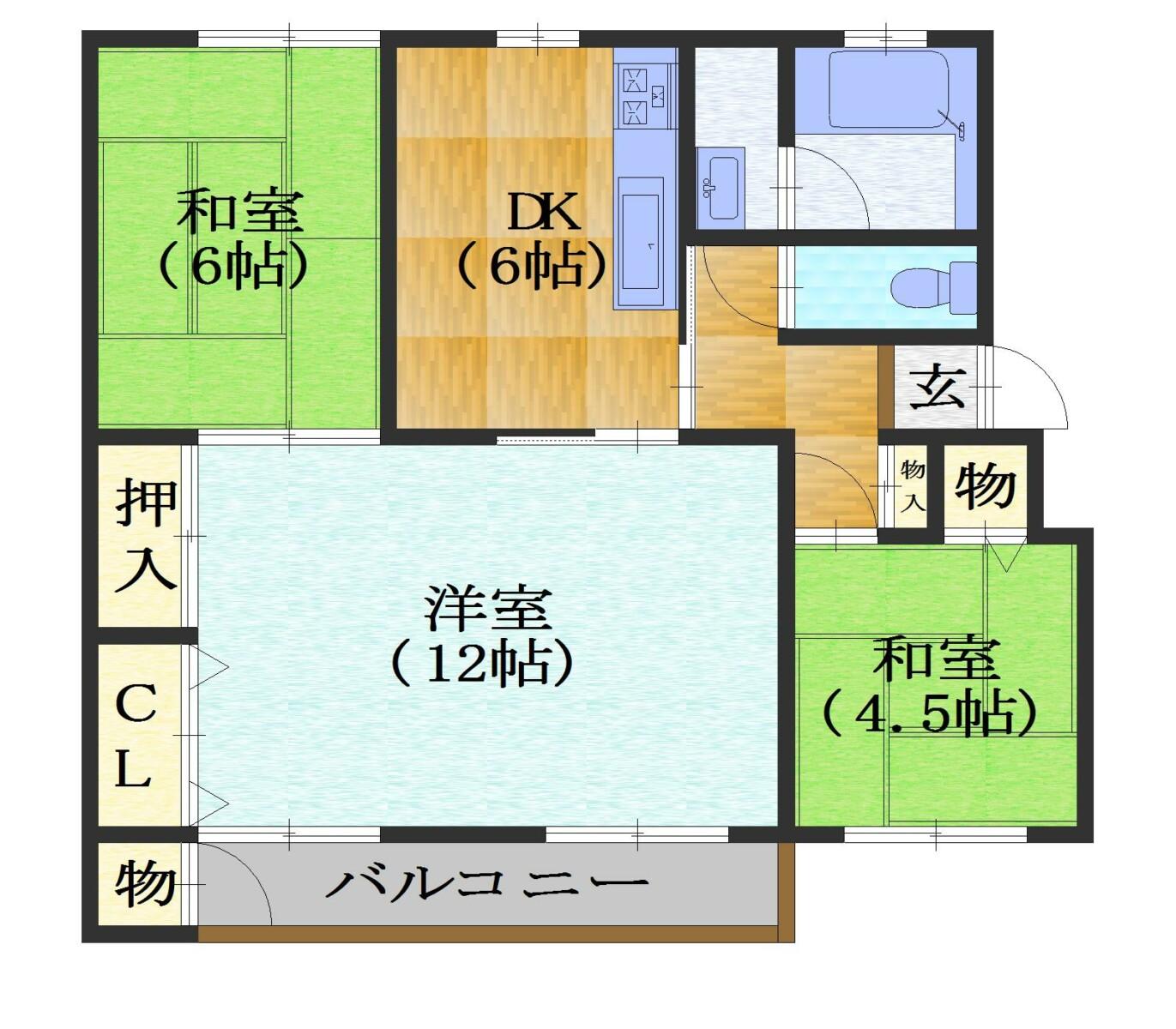 竹の台団地B3棟 価格780万円 イメージ