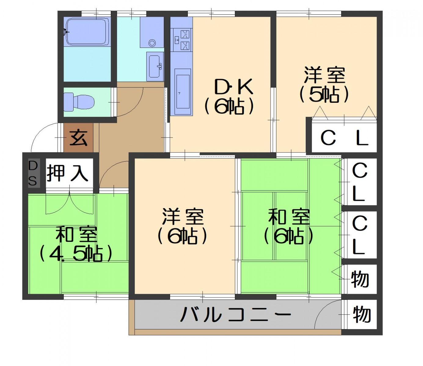 竹の台団地D1棟 価格1230万円 イメージ